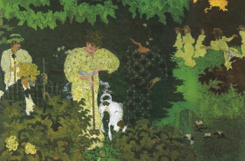 Pierre Bonnard, Das Krocketspiel, 1892