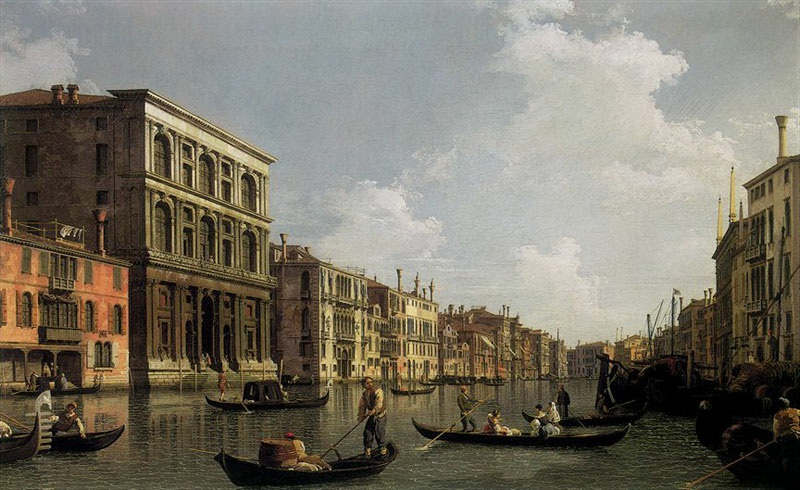 Le Grand Canal, depuis le palais Foscari, vers 1735, Canaletto, Octave Uzanne