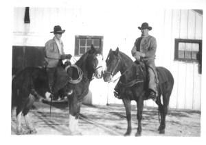 Slim Haugen & Shorty @ chaperon, Douglas Lake Ranch