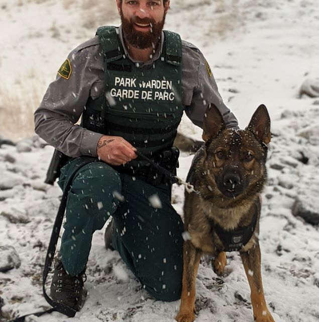 Banff National Park's latest Warden dogmaster …