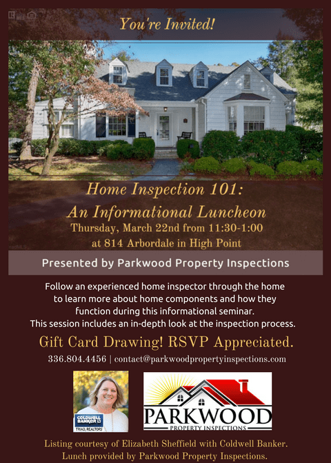 home inspection 101 flyer