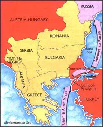 çanakkale savaşı harita