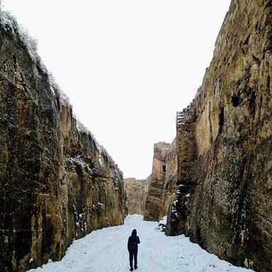 karlı tünel