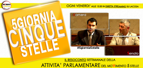 #5giornia5stelle/9 #Sospendetecitutti – 13/09/2013