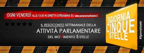 #5giornia5stelle/11 – #iononrubo 27/9/2013 Live streaming alle 13.30