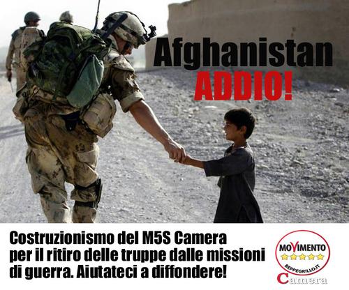 Fuori dall'Afghanistan! #cosafaresticon5mld
