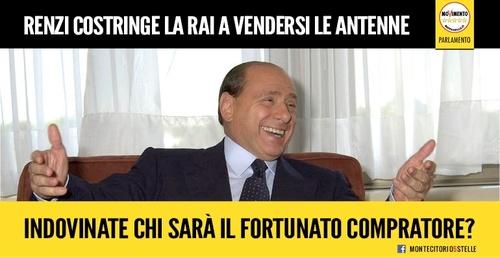 Berlusconi vuol comprare RaiWay, il Nazareno colpisce ancora