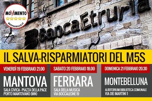 Tour Salvarisparmiatori a Mantova, Ferrara e Montebelluna