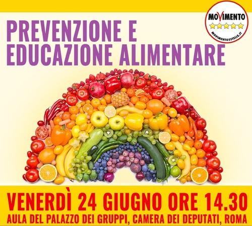 """INVITO STAMPA – """"Prevenzione ed educazione alimentare"""", 24.06.2016, Ore 14.30 – Camera dei Deputati"""