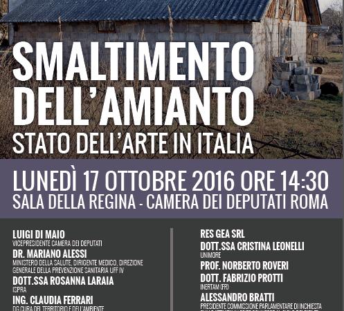 Smaltimento dell'amianto: stato dell'arte in Italia   Convegno M5S