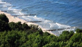 Mar Báltico en un día de verano.