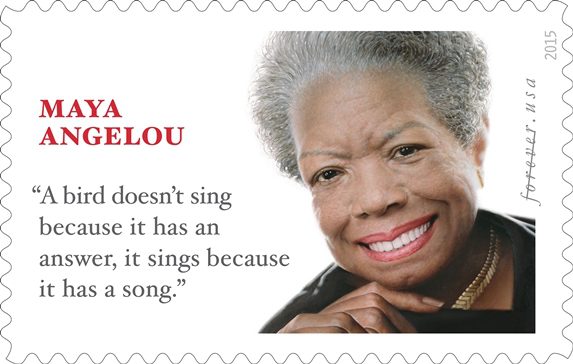 US Postal Service Commemorates Dr. Maya Angelou's 87th Birthday with Forever Stamp