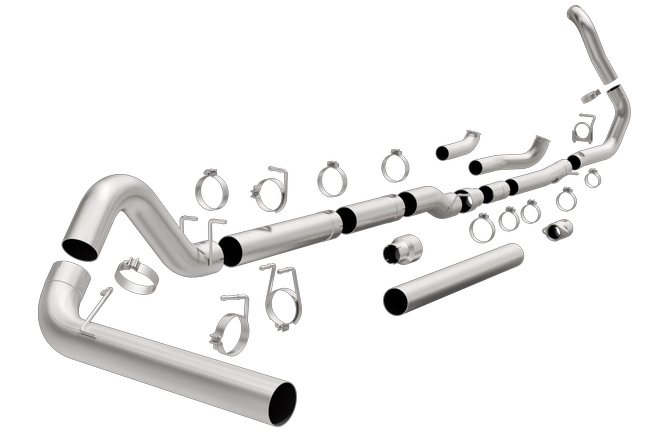 magnaflow aluminized straight pipe 5 turbo back exhaust for 1999 2003 ford 7 3l powerstroke 18941