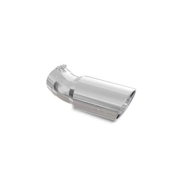 mbrp stainless steel angled rolled end 5 inlet x 6 outlet x 15 5 length 30 degree bend exhaust tip t5154
