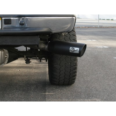 afe exhaust tip 4 x6 x18 black powder coat single wall rolled angle 49 92003 b