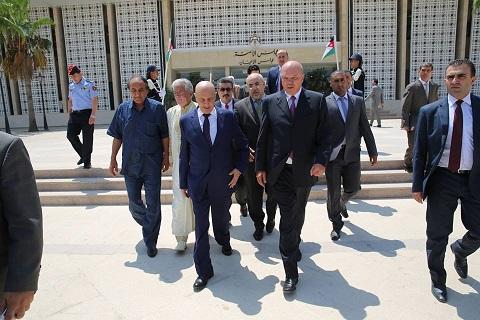 فخامة رئيس مجلس النواب يلتقي رئيس مجلس الأمة والأعيان الأردني