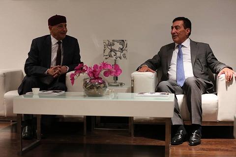 رئيس مجلس النواب يلتقي رئيس البرلمان الأردني بالعاصمة الأردنية عمان ..
