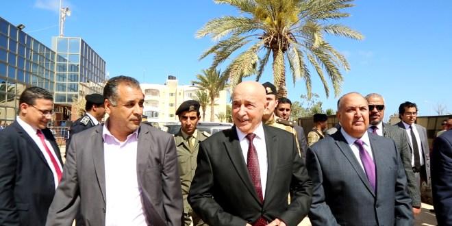 فخامة رئيس مجلس النواب يصل لمقر انعقاد أولى جلسات مجلس النواب بمدينة بنغازي