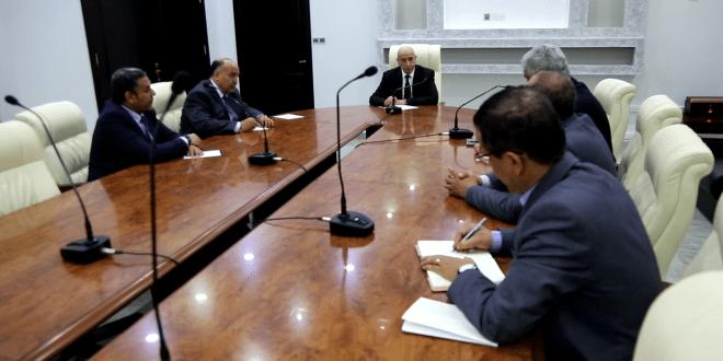 فخامة رئيس مجلس النواب ومعالي رئيس الديوان يجتمعون بالمجلس التسييري لبلدية بنغازي