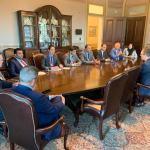 اجتماع وفد مجلس النواب وكبار المسؤولين بالبيت الأبيض