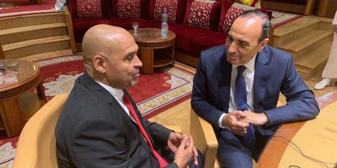النائب الهادي الصغير يلتقي رئيس مجلس النواب المغربي بالرباط