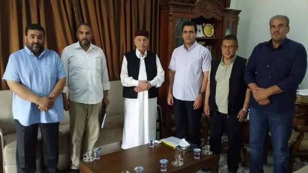رئيس مجلس النواب مع عميد جامعة عمر المختار
