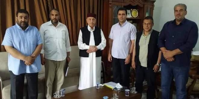 فخامة رئيس مجلس النواب يلتقي عميد جامعة عمر المختار