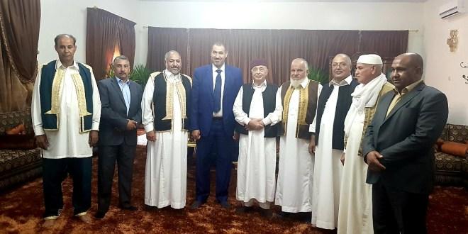 فخامة رئيس مجلس النواب يلتقي وفداً من بلدية الكفرة