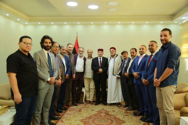 رئيس مجلس النواب والإعلاميين 2.10.2019