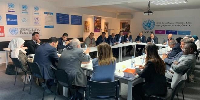 معالي النائب الأول يجتمع بلجنة التواصل والمبعوث الأممي لدى ليبيا