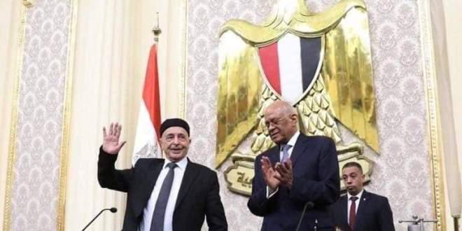 فخامة رئيس مجلس النواب يُلقي كلمة بالبرلمان المصري ويلتقي رئيسه