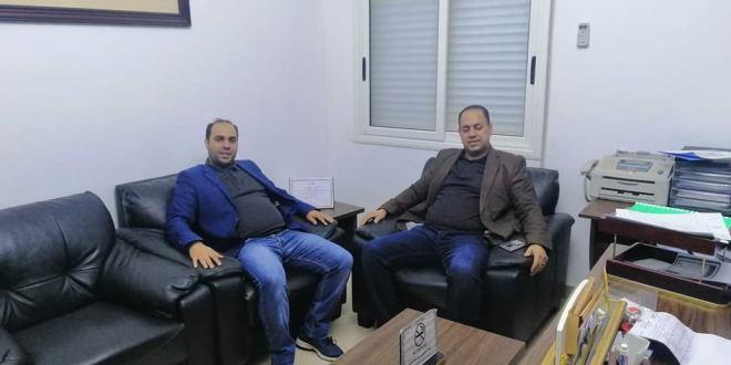 عضو مجلس النواب حمد البنداق يقف على استعدادات مستشفى أم الرزم العام لمواجهة وباء كورونا .