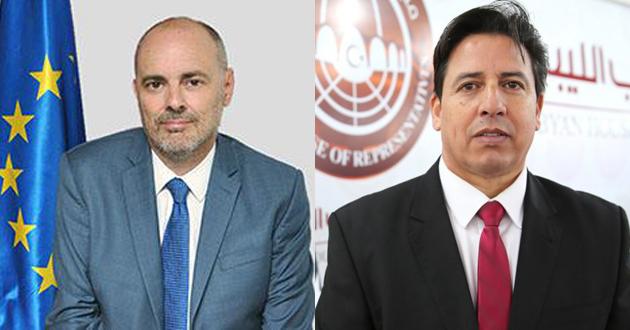 رئيس لجنة الخارجية يجري اتصالاً مع رئيس بعثة الاتحاد الأوروبي لدى ليبيا