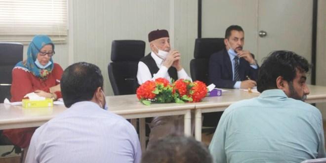 فخامة رئيس مجلس النواب يلتقى بعدد من النشطاء من مختلف مدن المنطقة الشرقية