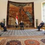 الرئيس مع الرئيس المصري عبدالفتاح السيسي