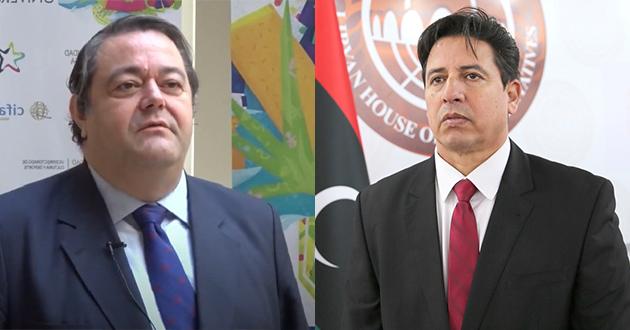 رئيس لجنة الخارجية يتلقى اتصالا هاتفيا من سفير اسبانيا لدى ليبيا.