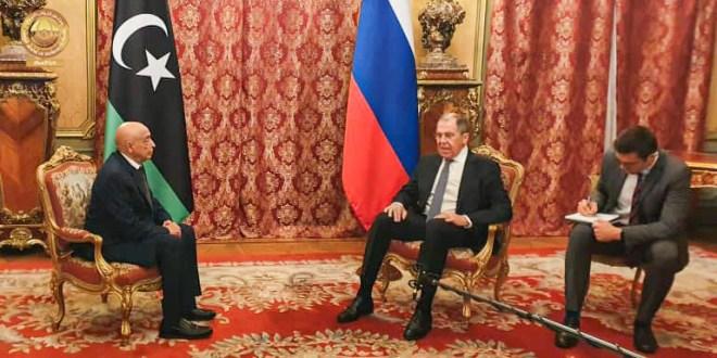 وزير الخارجية الروسي يثمن جهود فخامة رئيس مجلس النواب لإنهاء الأزمة الليبية.
