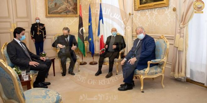 فخامة رئيس مجلس النواب يلتقي رئيس مجلس الشيوخ الفرنسي