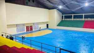 Aperçu définitif du gymnase multisports de Mfandena.