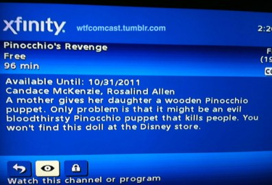 movie summary - pinocchio revenge