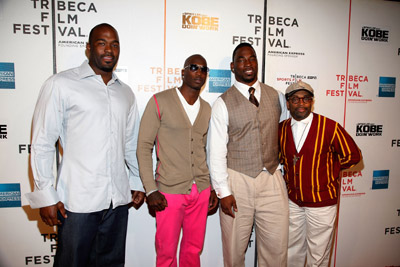 Mario Williams, Chad Johnson, Justin Tuck, and director Spike Lee