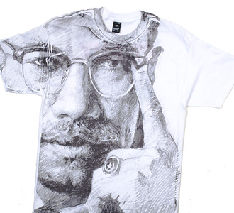 by-any-means_white malcolm x tee