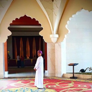 Ahmed of in the grand lobby of the AL Husn