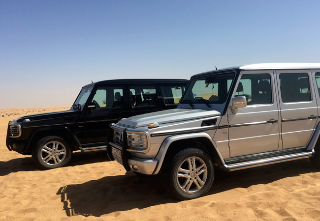 Our air conditioned desert chariots