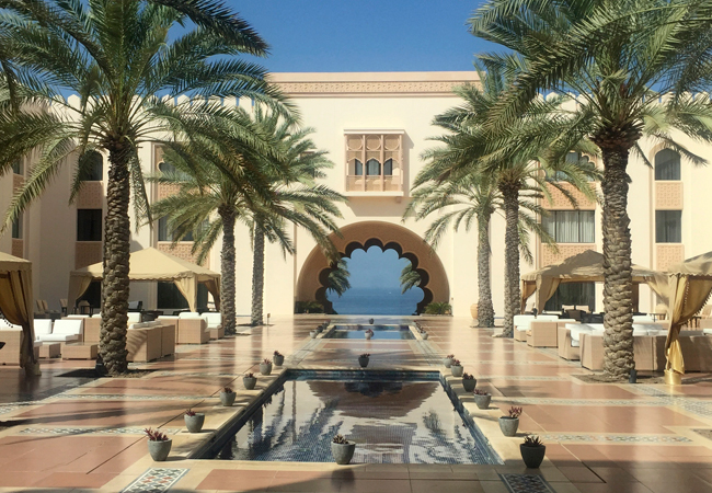 The courtyard view of the Al Husn