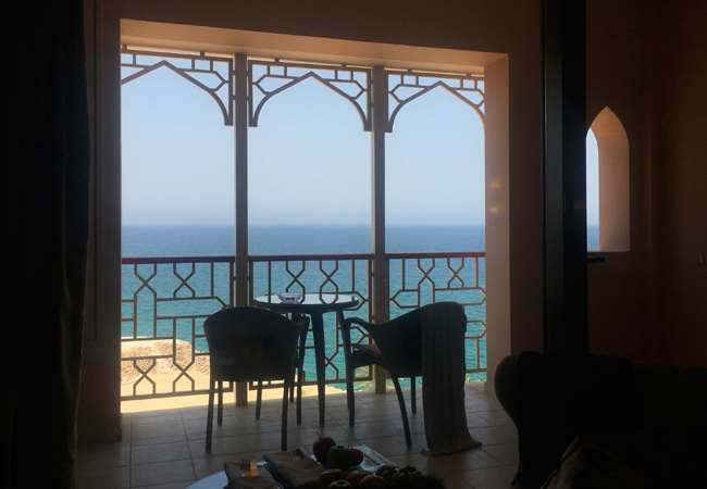 Our morning view from our room at the AL Husn