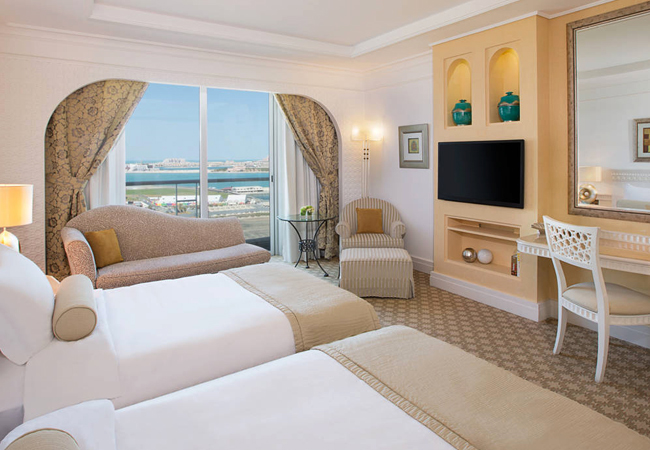A double tower room at the Habtoor Grand
