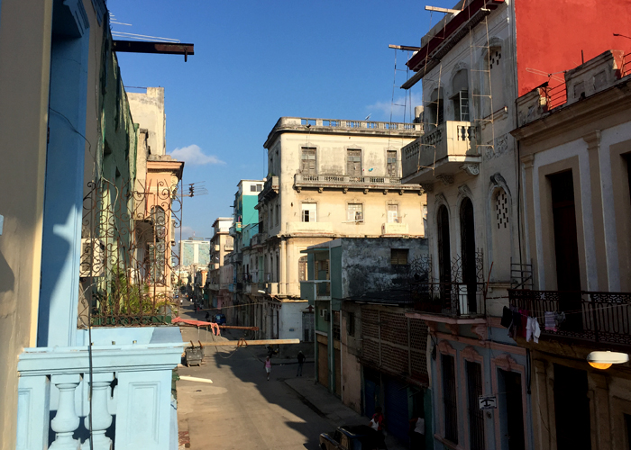 The view from our balcony at our casa particular in Centro Habana