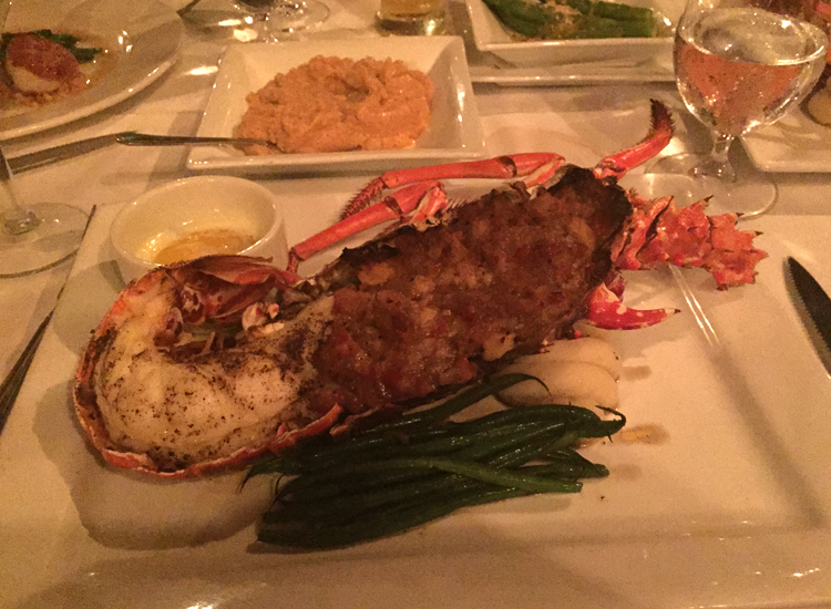 Freshly stuffed lobster at the Old Stone Farmhouse