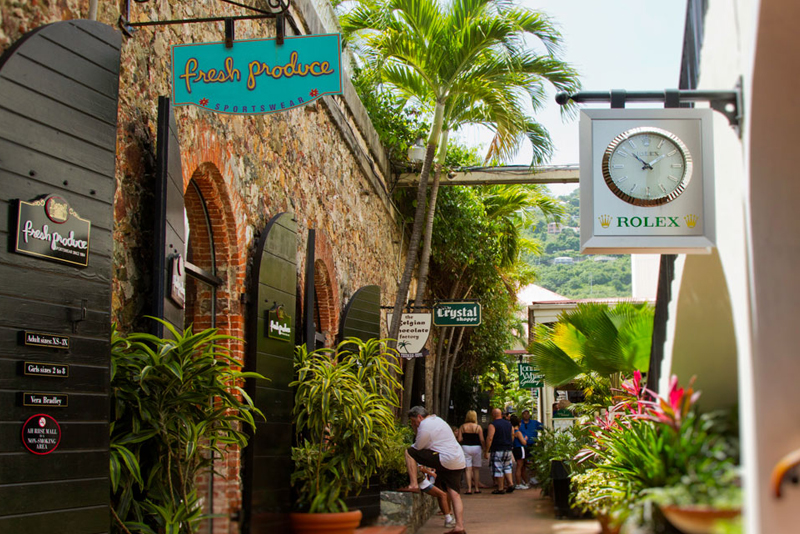 Shopping in Charlotte Amalie Harbor (suggested activity)